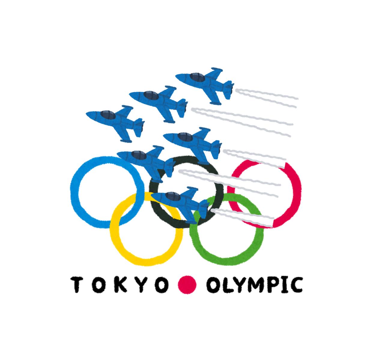 東京オリンピックブルーインパルス