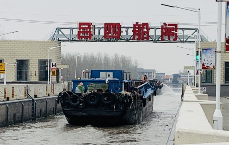 外海へ通じる呂四の水門