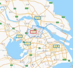 常熟中心江南地図