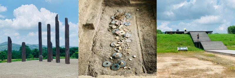 1.住居跡、2.王族の墓、3.宮殿へ上る