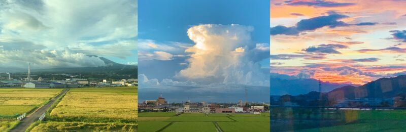 新幹線からの美しい景色