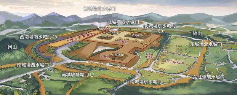良渚遺跡公園案内図