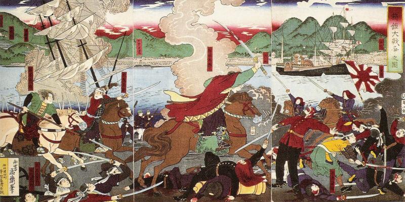 函館戦争の図