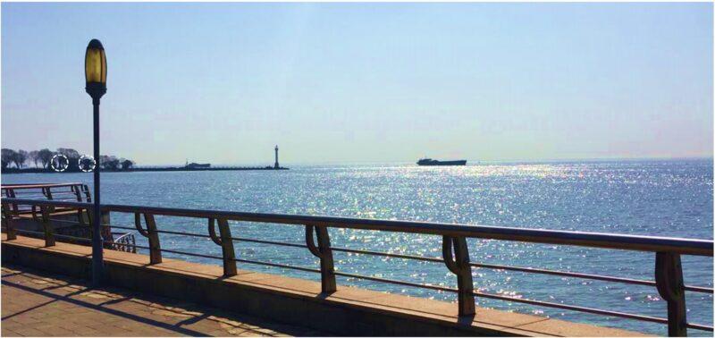 滨江公園から見る長江