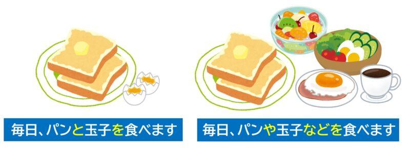 パンと玉子を食べます